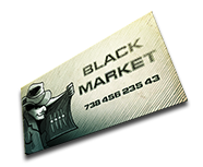 Black Market business card