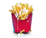 French fries with mayonnaise